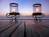 Sunset Candles — Foto Stock