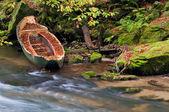 Sunken Rowboat — Stock Photo