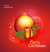 Chrismas background. — Stock Vector