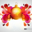Stock Vector: Abstract colorful background with christmas ball.