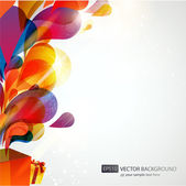 Vector background with colorful gifts. — Stock Vector