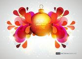 抽象炫彩背景圣诞球. — 图库矢量图片