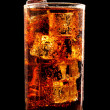 Stock Photo: Glass of cold cola