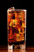Glass of cold cola — Stock Photo