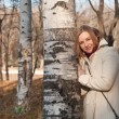 Girl and birch — Stock Photo #7818272