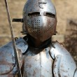 Medieval Knight.Portrait. - Stock Photo