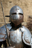 Medieval Knight.Portrait. — Stock Photo