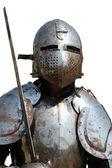 Isolated Medieval Knight.Portrait. — Stock Photo