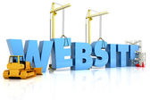 Website building , under construction or repair — Stock Photo