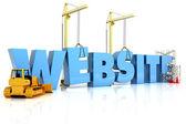 Website building , under construction or repair — Stock Photo
