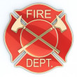 Fire department Maltese cross — Stock Photo #7395507