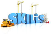 Building skills concept — Stock Photo