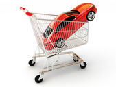 Car shopping — Stock Photo