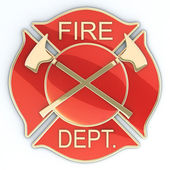 Fire department Maltese cross — Stock Photo