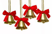 Christmas bells quartet — Stock Photo