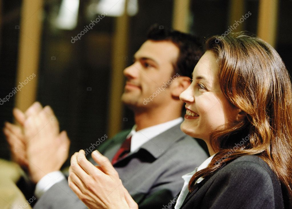 Business applauding — Stock Photo #7028942
