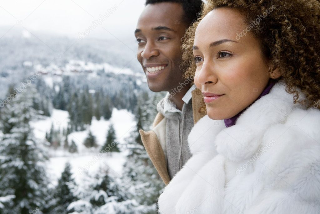 Couple looking at view — Stock Photo #7030069