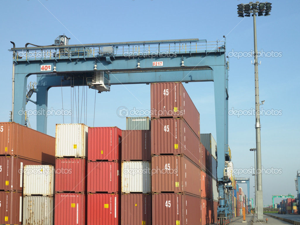 Container terminal  Stock Photo #7030847