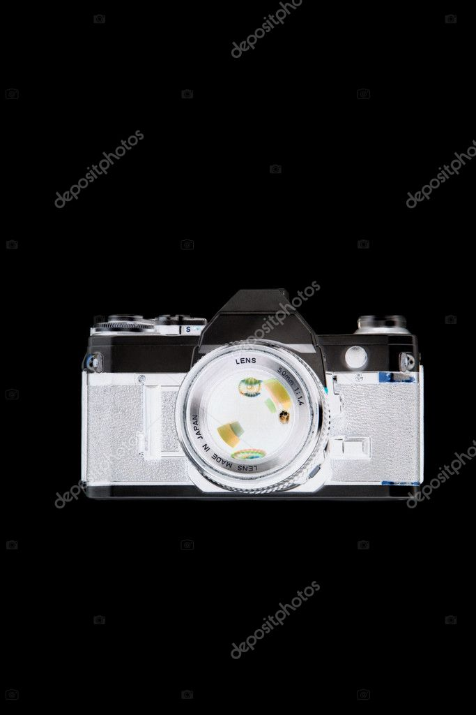 X ray image of camera  Stock Photo #7034569