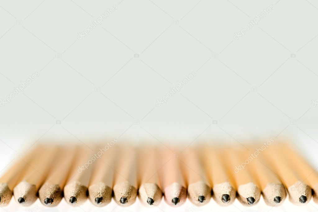 Pencils in a row — Stock Photo #7041580