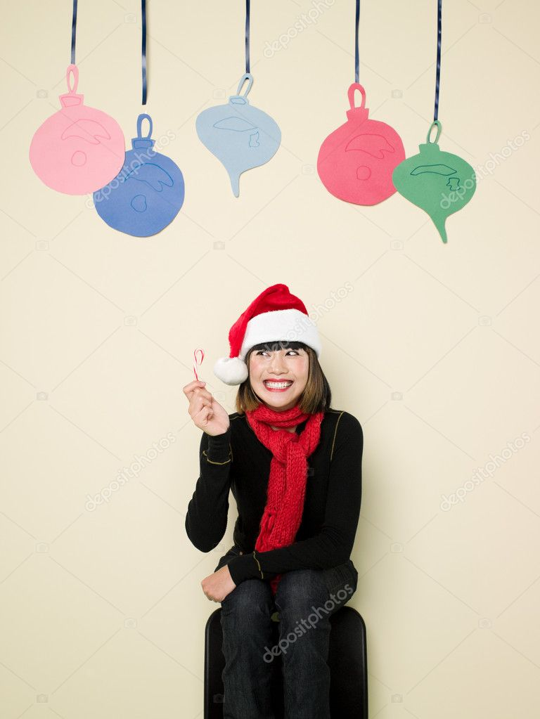 Woman at christmas  Stok fotoraf #7042463