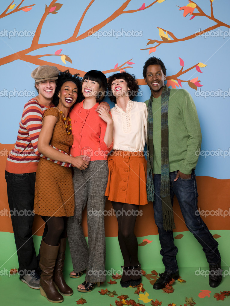 Friends in autumn — Stockfoto #7042483