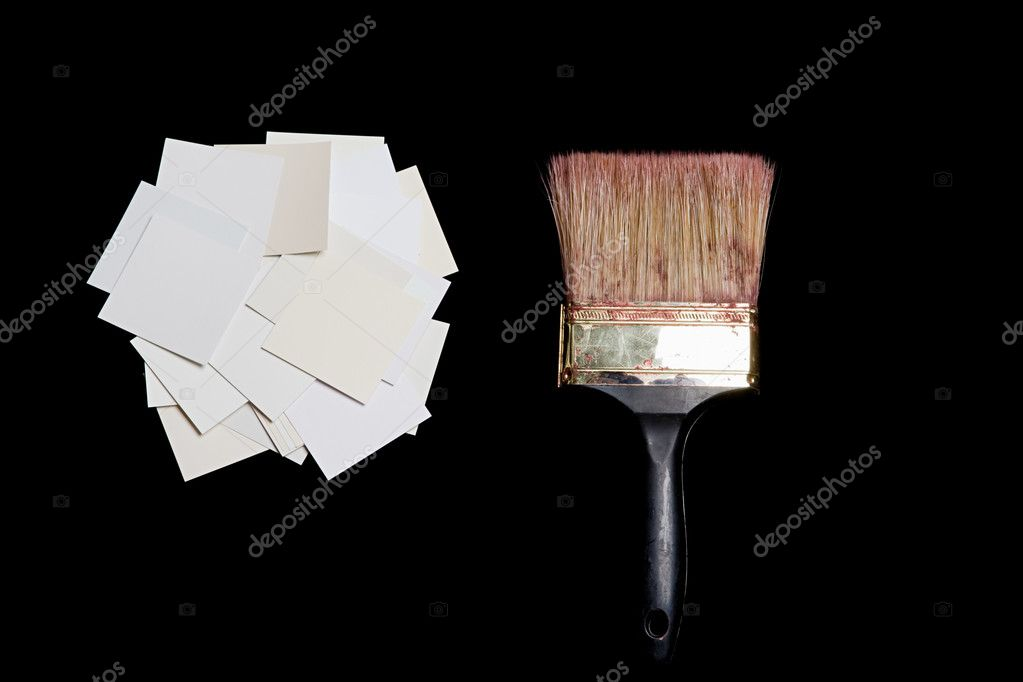 Paintbrush and paper — Stock Photo #7042750