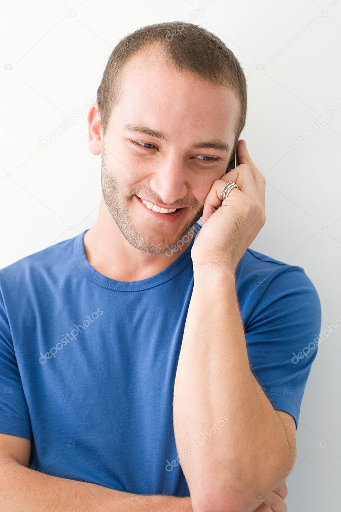 Young man on cellphone — Stock Photo #7044964