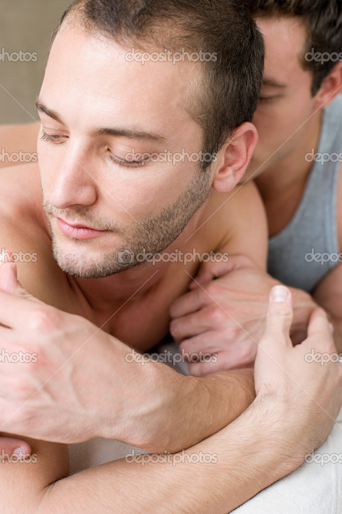 Intimate gay couple — Stock Photo #7044965