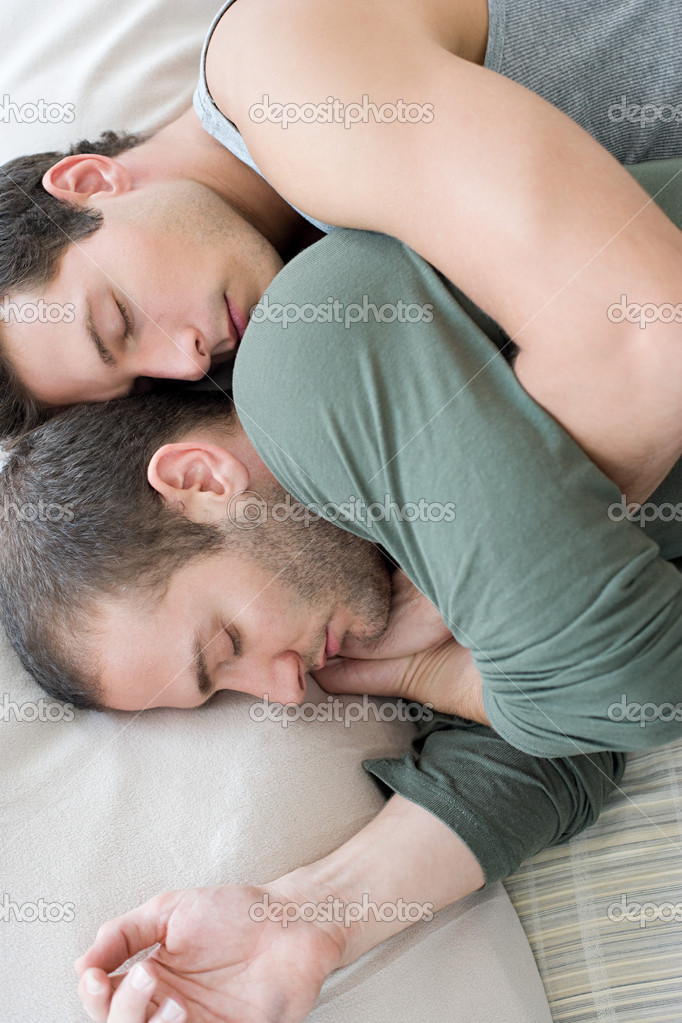 Gay couple sleeping — Stock Photo #7044989