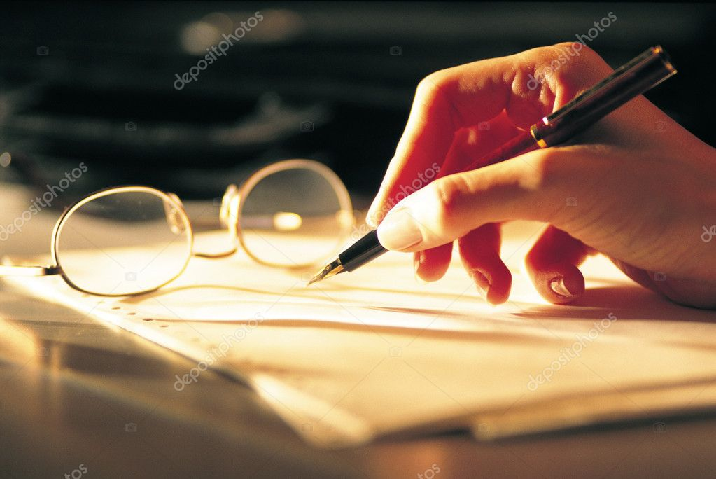 Pen and paper — Stock Photo #7046128