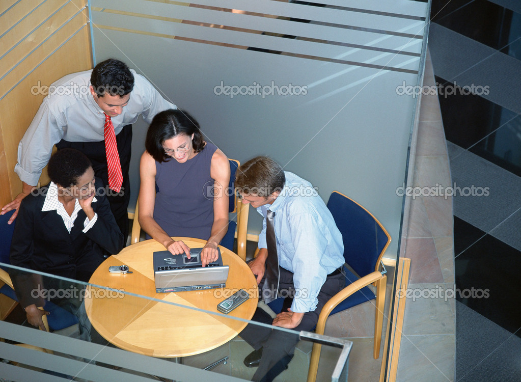 Business working on a laptop — Stock Photo #7048377