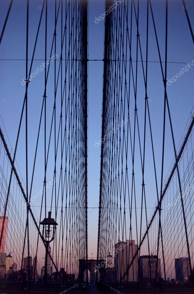 Brookly bridge in the evening — Stock Photo #7050504