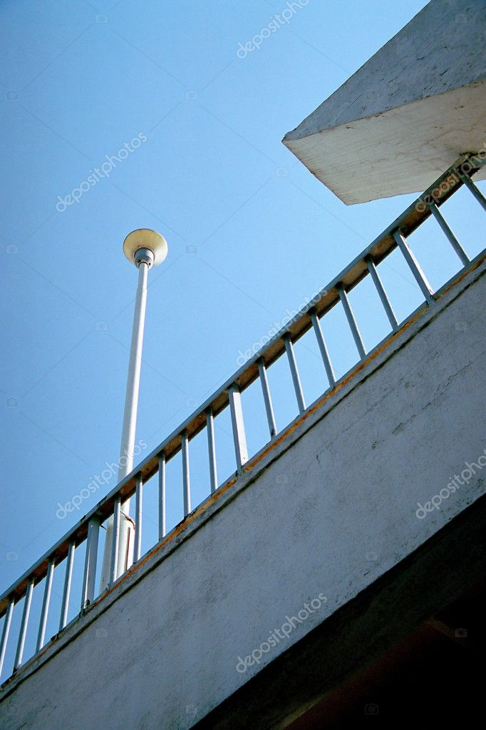 Railing and street light  Stock Photo #7053169