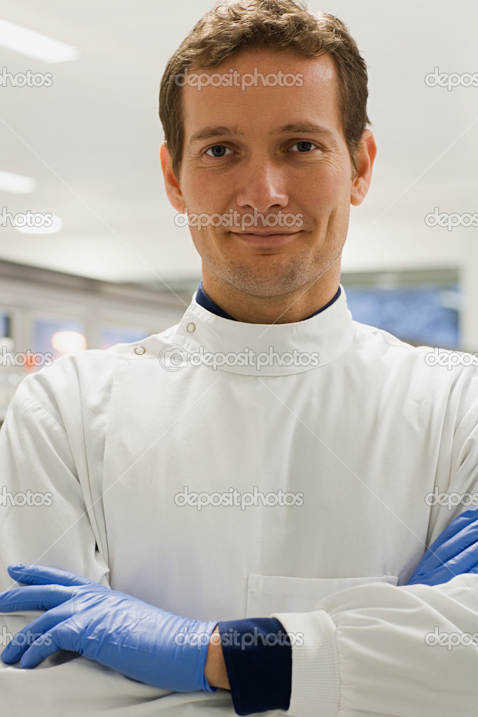 Portrait of a scientist  Stock Photo #7055184