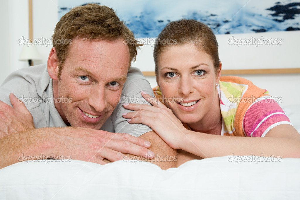 Couple lying togetherness — Stock Photo #7056762