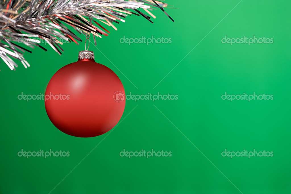 Red bauble — Stock Photo #7057827