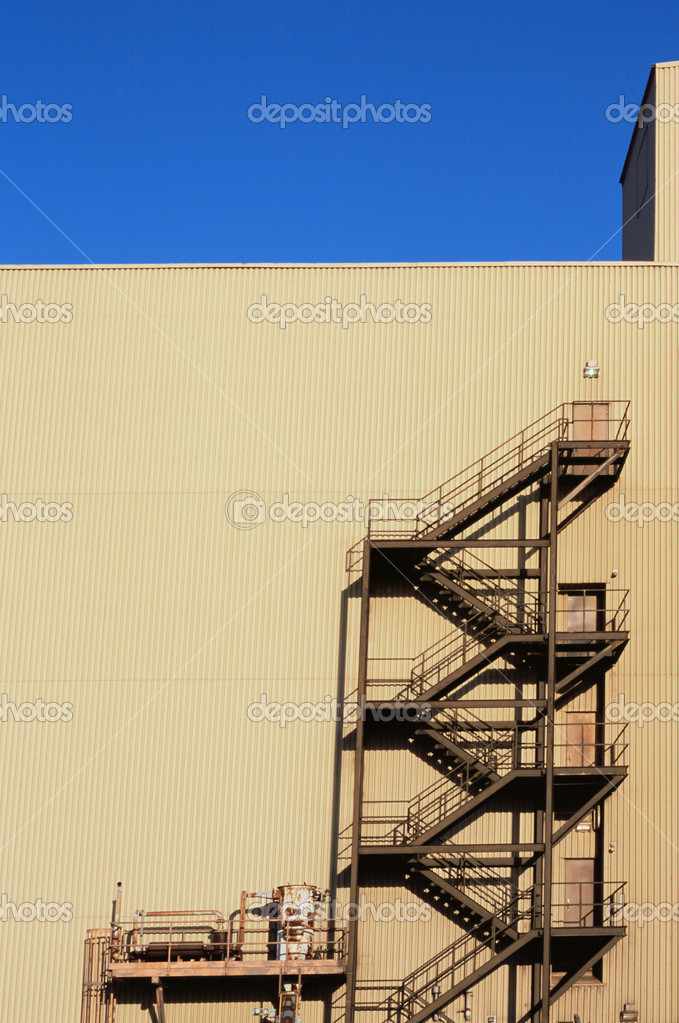 Factory fire escape  Stock Photo #7059419