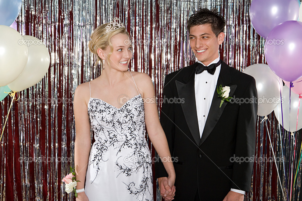 Young couple at prom  Stock Photo #7061957