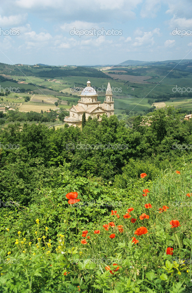 Tempio di san biagio church tuscany — Stock Photo #7076101