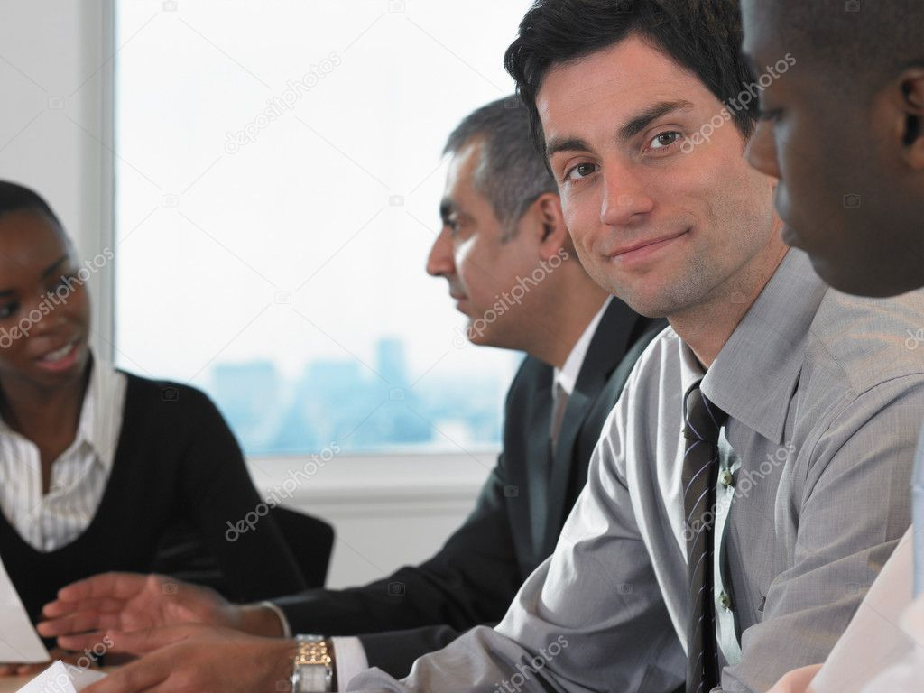 In a meeting — Stock Photo #7076589