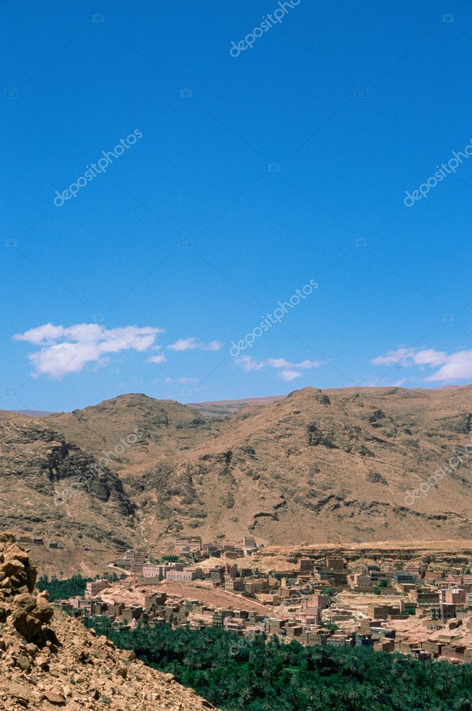 Casbah in the draa valley morocco  Stock Photo #7077818