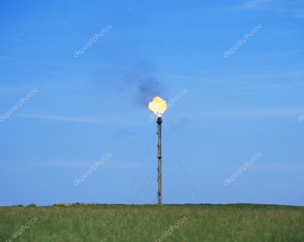 Flame at petrochemical plant  Stock Photo #7077943