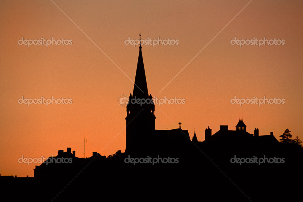 Silhouetted skyline — Stock Photo #7078086