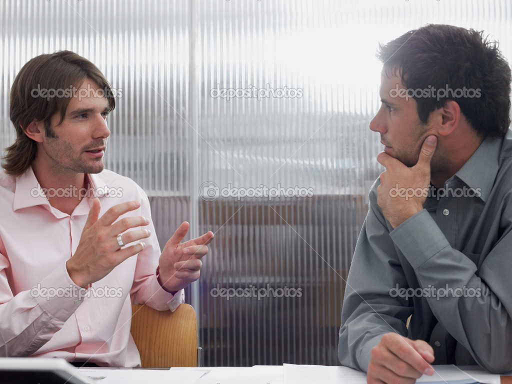 Colleagues having a conversation — Stock Photo #7078477