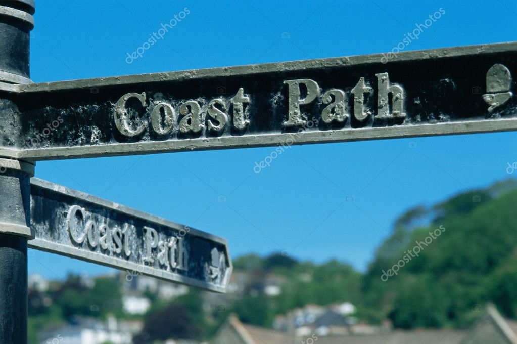 Coastal path sign — Stock Photo #7079775