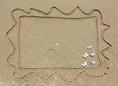 Sand postcard — Stock Photo