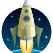 Royalty-Free Stock Vector Image: Rocket in Space