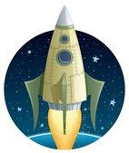 Rocket in Space — Stock Vector