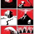 Natural Disasters — Vector de stock